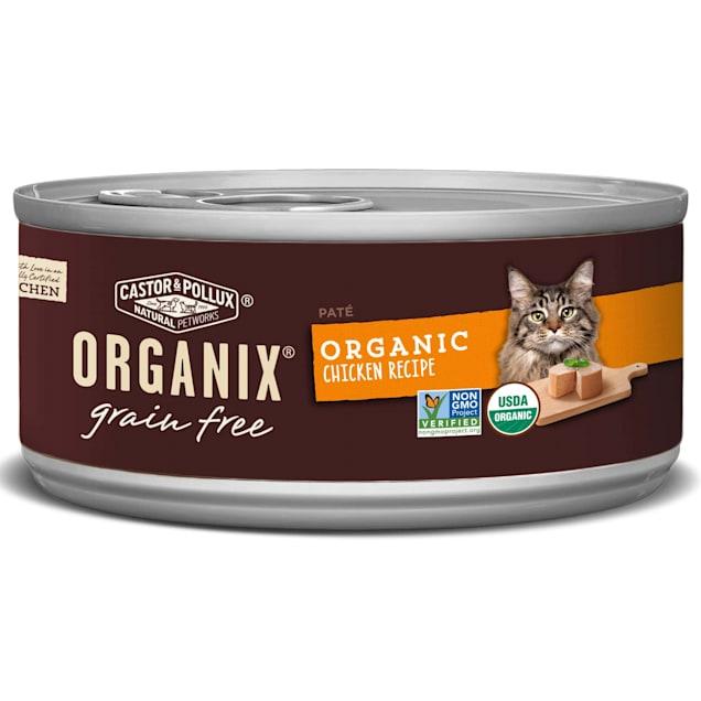 Castor & Pollux Organix Grain Free Organic Chicken Pate Wet Cat Food, 3 oz., Case of 24 - Carousel image #1