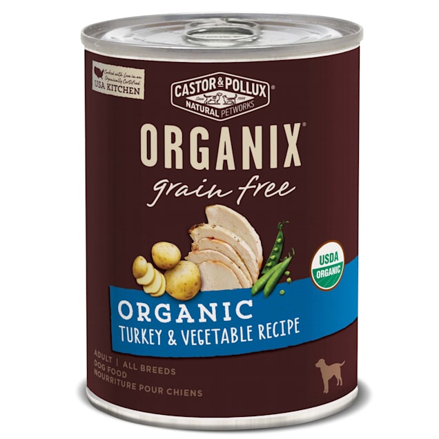 Castor & Pollux Organix Organic Grain Free Organic Turkey & Vegetable Recipe Wet Dog Food, 12.7 oz., Case of 12 - Carousel image #1
