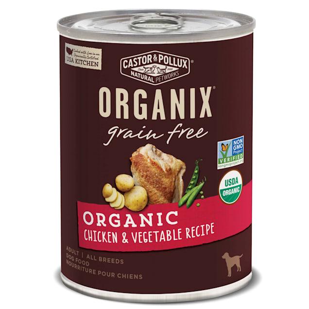 Castor & Pollux Organix Grain Free Organic Chicken & Vegetable Recipe Wet Dog Food, 12.7 oz., Case of 12 - Carousel image #1