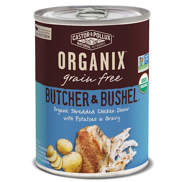 Castor & Pollux Organix Butcher & Bushel Organic Tender Chicken Dinner with Potatoes Wet Dog Food, 12.7 oz., Case of 12 - Carousel image #1