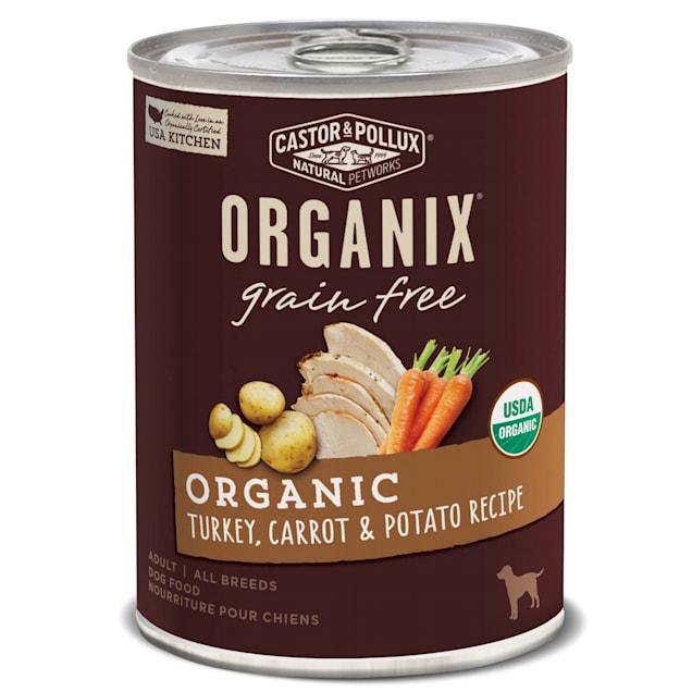 Castor & Pollux Organix Grain Free Organic Turkey, Carrot & Potato Recipe Wet Dog Food, 12.7 oz., Case of 12 - Carousel image #1