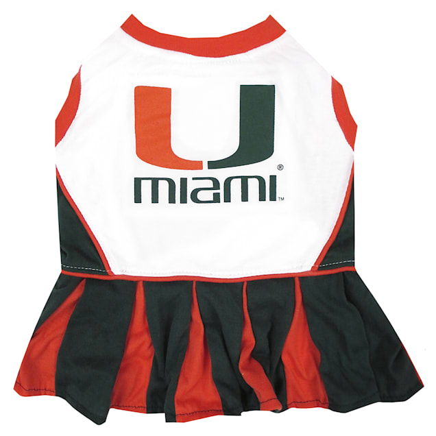 Pets First Miami Hurricanes Cheerleading Outfit, X-Small - Carousel image #1