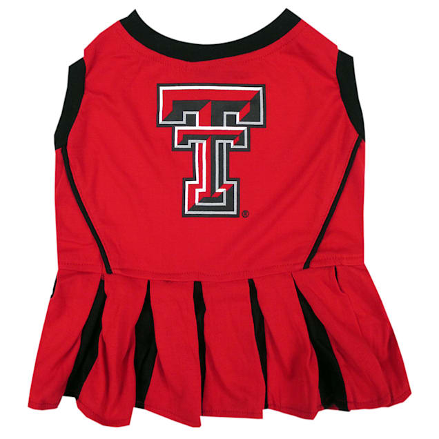 Pets First Texas Tech Raiders Cheerleading Outfit, X-Small - Carousel image #1