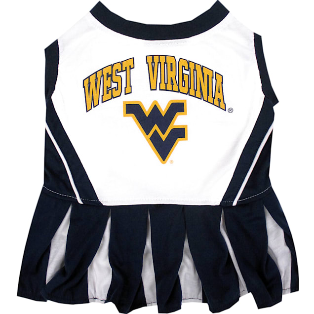 Pets First West Virginia Moutaineers Cheerleading Outfit, X-Small - Carousel image #1
