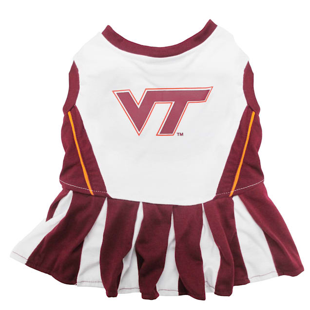 Pets First Virginia Tech Hokies Cheerleading Outfit, X-Small - Carousel image #1