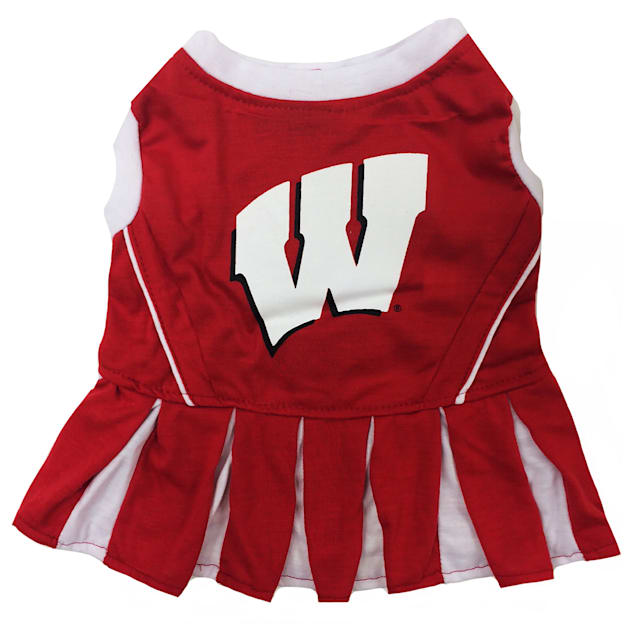 Pets First Wisconsin Badgers Cheerleading Outfit, X-Small - Carousel image #1