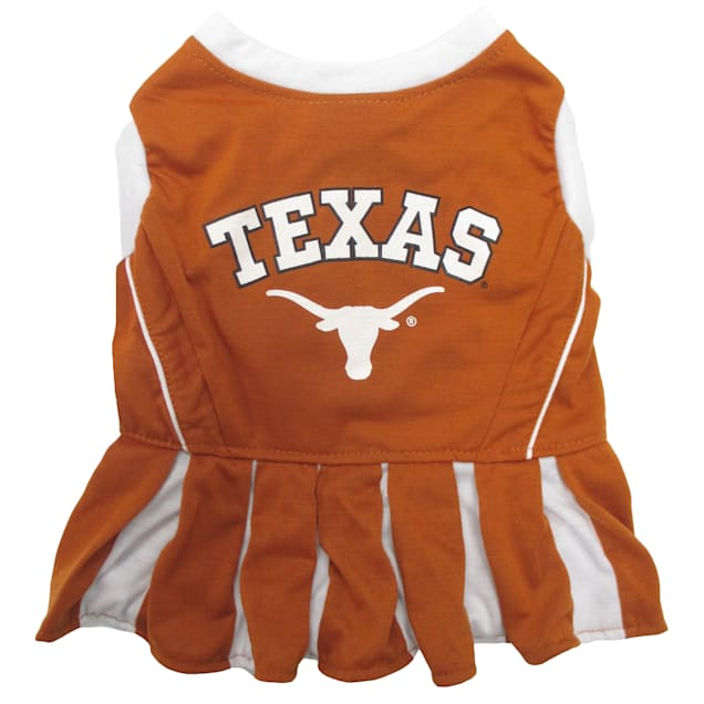 Pets First Texas Longhorns Cheerleading Outfit, X-Small - Carousel image #1