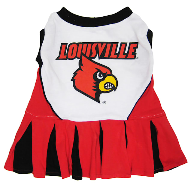 Pets First NCAA Louisville Cardinals Cheerleading Outfit, X-Small - Carousel image #1