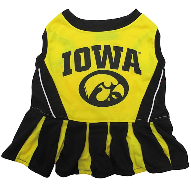 Pets First Iowa Hawkeyes Cheerleading Outfit, X-Small - Carousel image #1