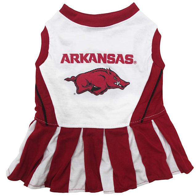 Pets First Arkansas Razorbacks Cheerleading Outfit, X-Small - Carousel image #1