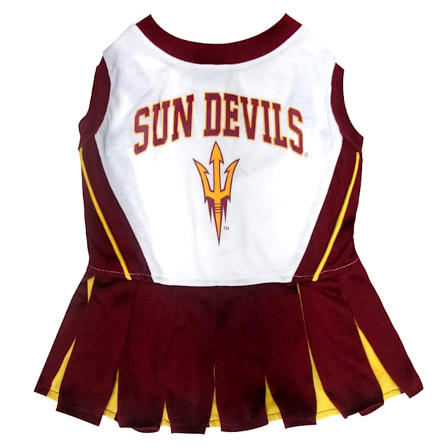 Pets First Arizona State Devils Cheerleading Outfit, X-Small - Carousel image #1