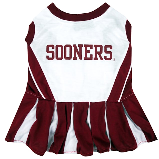 Pets First Oklahoma Sooners Cheerleading Outfit, X-Small - Carousel image #1