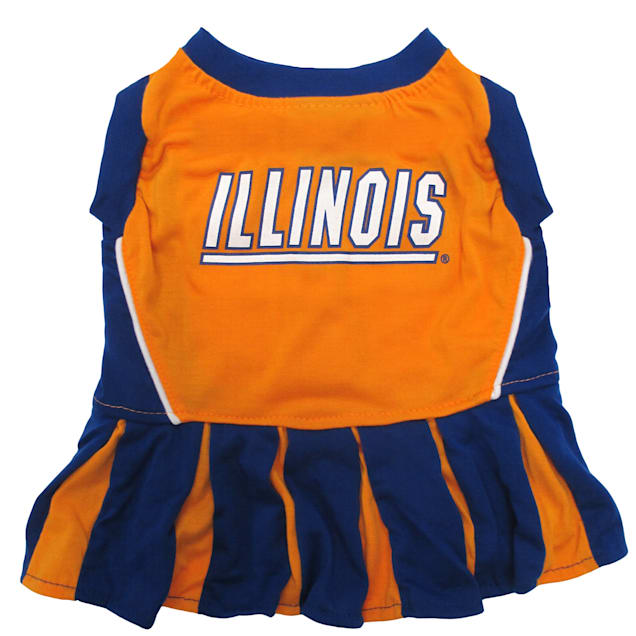 Pets First Illinois Illini Cheerleading Outfit, X-Small - Carousel image #1