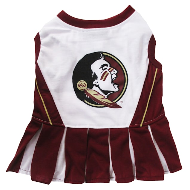 Pets First Florida State Seminoles Cheerleading Outfit, X-Small - Carousel image #1