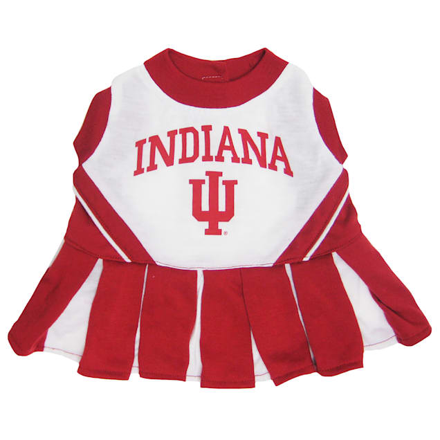 Pets First Indiana Hoosiers Cheerleading Outfit, X-Small - Carousel image #1