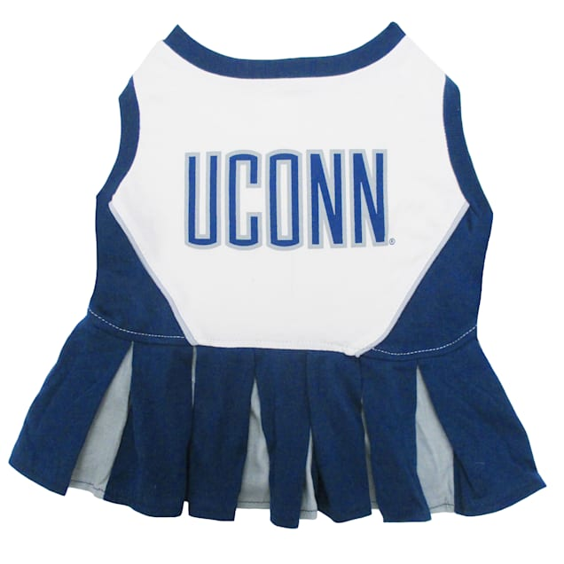Pets First Connecticut Huskies Cheerleading Outfit, X-Small - Carousel image #1