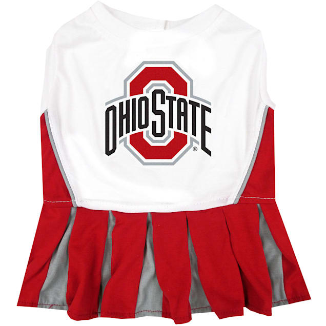 Pets First Ohio State Buckeyes Cheerleading Outfit, X-Small - Carousel image #1