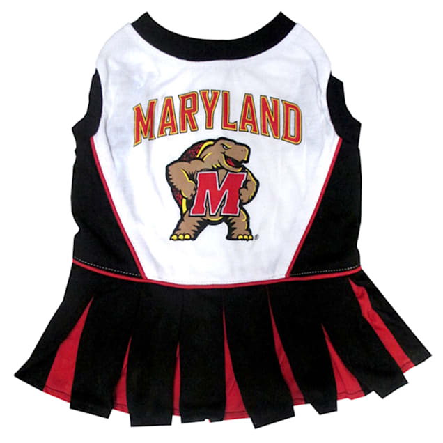 Pets First Maryland Terrapins Cheerleading Outfit, X-Small - Carousel image #1
