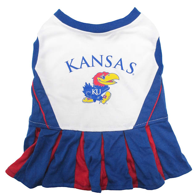 Pets First Kansas University Jayhawks Cheerleading Outfit, X-Small - Carousel image #1