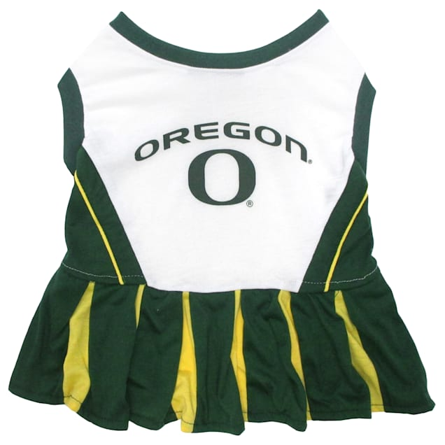 Pets First Oregon Ducks Cheerleading Outfit, X-Small - Carousel image #1
