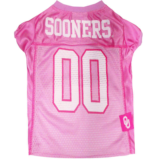 Pets First Oklahoma Sooners Pink Jersey, X-Small - Carousel image #1