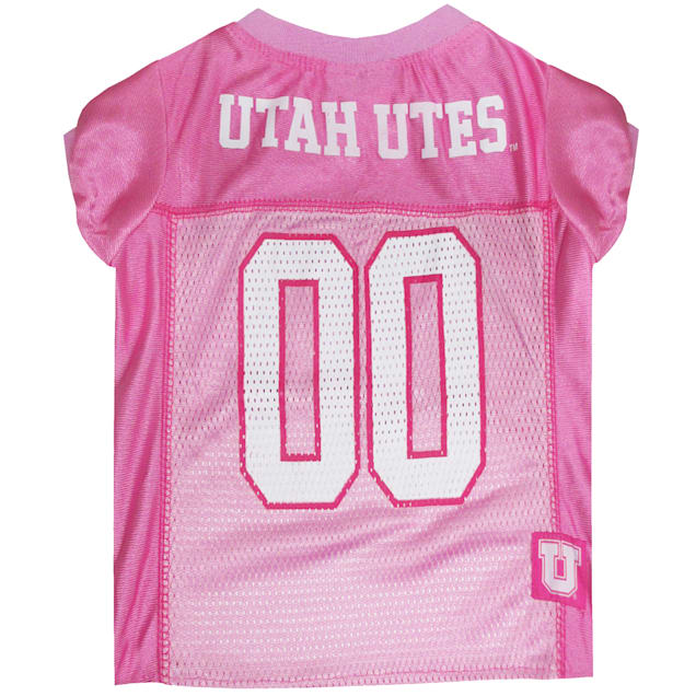 Pets First Utah Utes Pink Jersey, X-Small - Carousel image #1