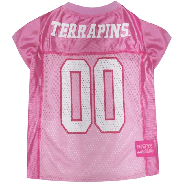 Pets First Maryland Terrapins Pink Jersey, X-Small - Carousel image #1