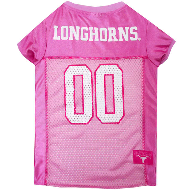 Pets First Texas Longhorns Pink Jersey, X-Small - Carousel image #1