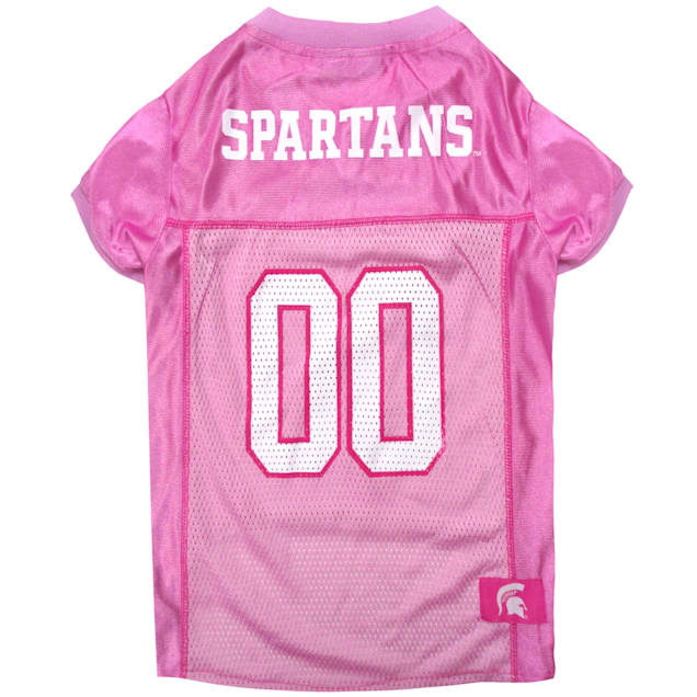 Pets First Michigan State Spartans Pink Jersey, X-Small - Carousel image #1