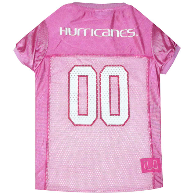 Pets First Miami Hurricanes Pink Jersey, X-Small - Carousel image #1