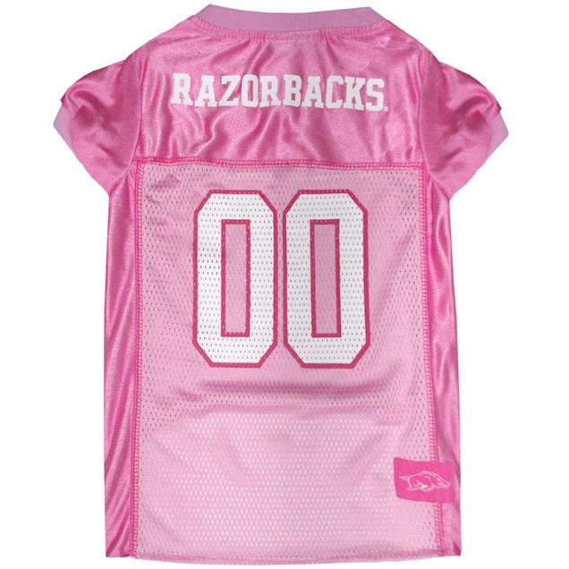 Pets First Arkansas Razorbacks Pink Jersey, X-Small - Carousel image #1
