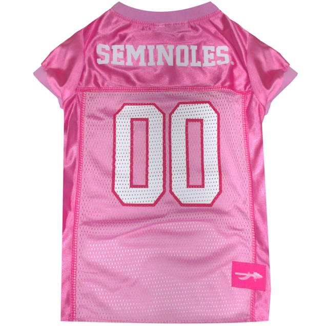 Pets First Florida State Seminoles Pink Jersey, X-Small - Carousel image #1