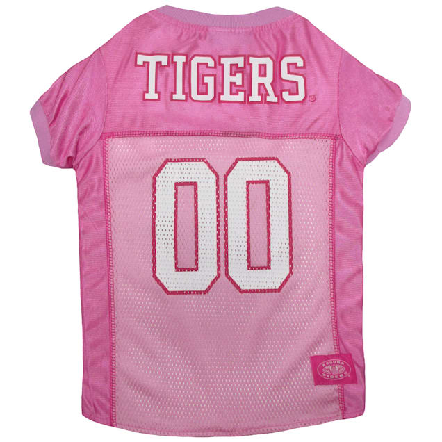 Pets First Auburn Tigers Pink Jersey, X-Small - Carousel image #1