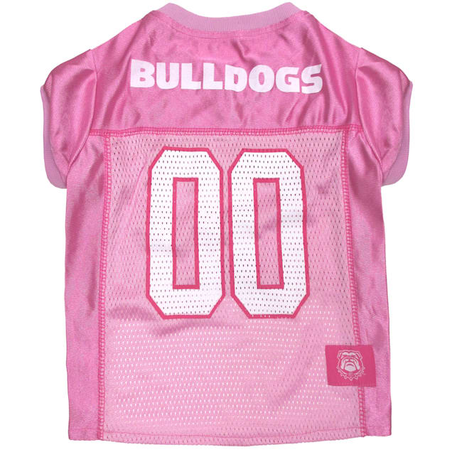 Pets First Georgia Bulldogs Pink Jersey, X-Small - Carousel image #1
