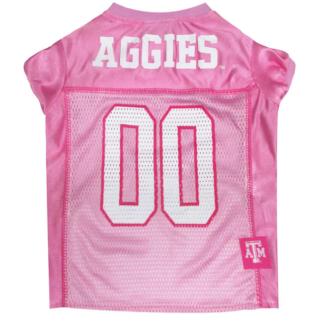 Pets First Texas A&M Aggies Pink Jersey, X-Small - Carousel image #1