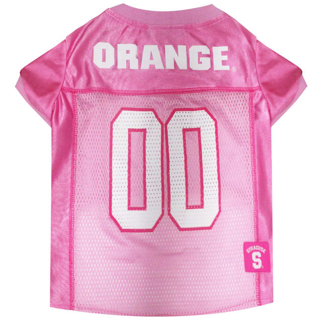 Pets First Syracuse Orange Pink Jersey, X-Small - Carousel image #1