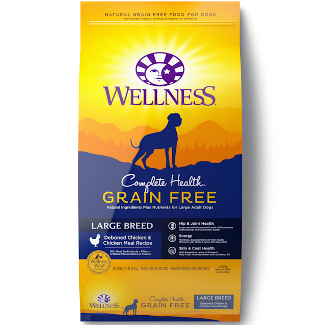 Wellness Complete Health Grain Free Large Breed Deboned Chicken & Chicken Meal Recipe Dry Dog, 24 lbs. - Carousel image #1