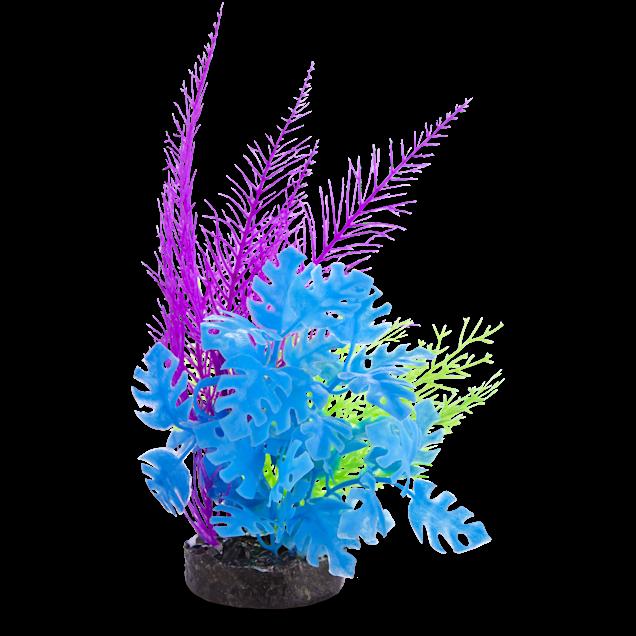 Imagitarium Green & Purple Fiesta Seagrass Plastic Aquarium Plant - Carousel image #1