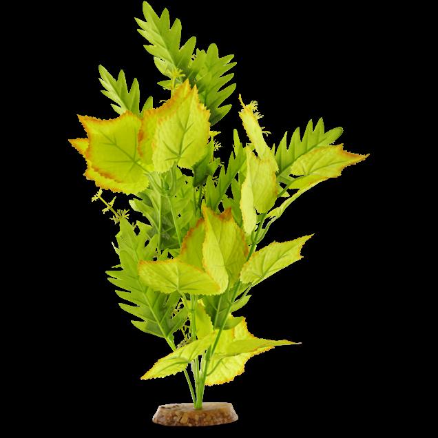 Imagitarium Yellow & Green Blossom Silk Aquarium Plant - Carousel image #1