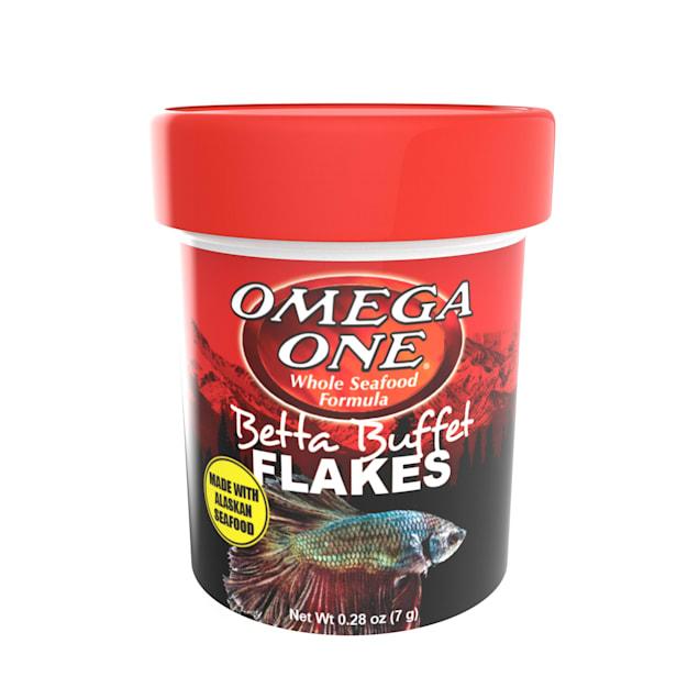 Omega One Betta Buffet Flakes Fish Food, 0.28 oz. - Carousel image #1