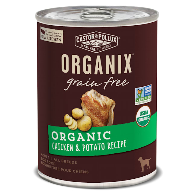 Castor & Pollux Organix Grain Free Organic Chicken & Potato Recipe Wet Dog Food, 12.7 oz., Case of 12 - Carousel image #1