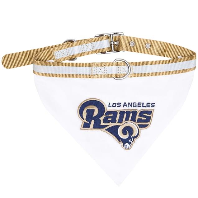 Pets First Los Angeles Rams Collar Bandana, Large - Carousel image #1