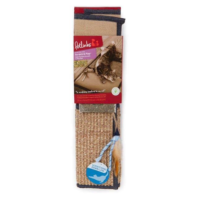 Petlinks Scratch & Play Cat Mat, Denim - Carousel image #1