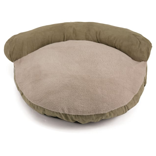 """Dallas Manufacturing Green Suede Couch Bed, 34"""" L x 34"""" W - Carousel image #1"""