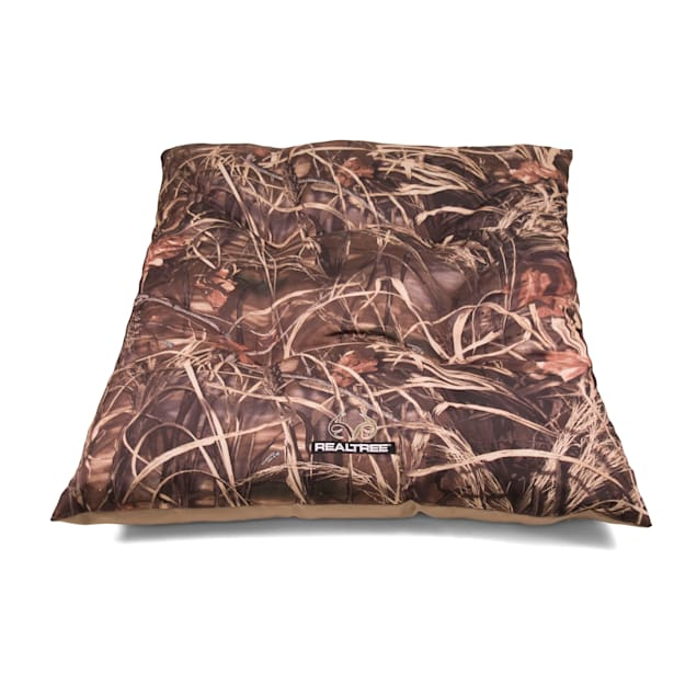 "Realtree Camouflage with Brown Trim Tufted Pet Bed, 44"" L x 35"" W - Carousel image #1"