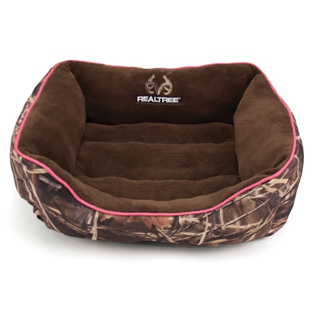 """Realtree Camouflage with Pink Trim Pet Bed, 25"""" L x 21"""" W - Carousel image #1"""
