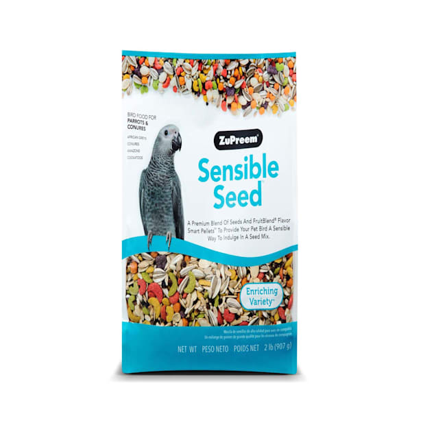 ZuPreem Sensible Seed Bird Food for Parrots & Conures, 2 lbs. - Carousel image #1