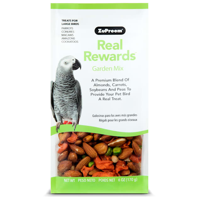 ZuPreem Real Rewards Garden Mix Treats for Large Birds - Carousel image #1