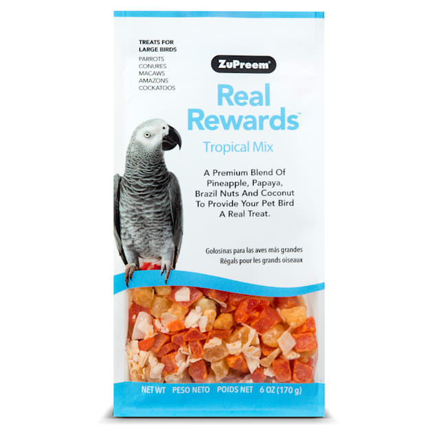 ZuPreem Real Rewards Tropical Mix Treats for Large Birds - Carousel image #1