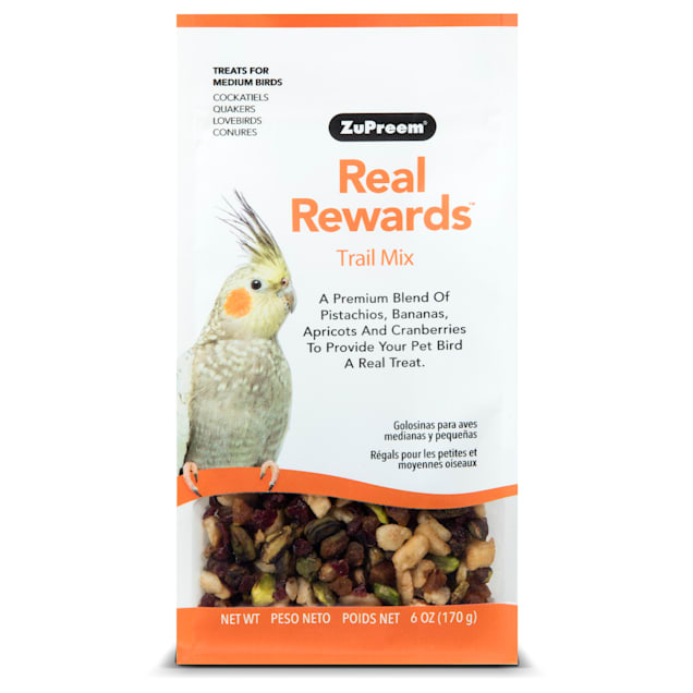ZuPreem Real Rewards Trail Mix Treats for Medium Birds - Carousel image #1